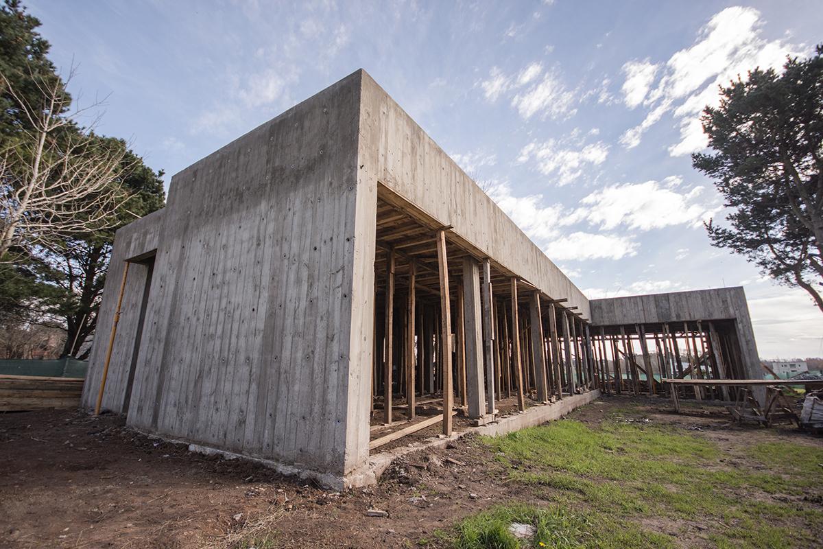 Vista lateral construcción Mestra