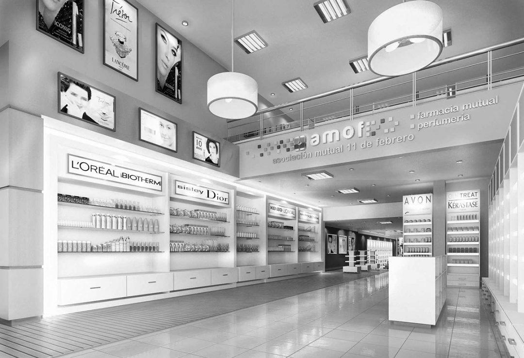 AMOF, Oficinas comerciales y farmacia